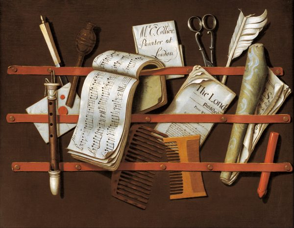 Edward Collier, Letter rack, 1698