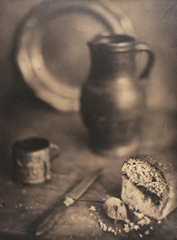 Gaston Lemaire, Still Life with Bread, Knife, Mug, Plate and Pitcher, 1930